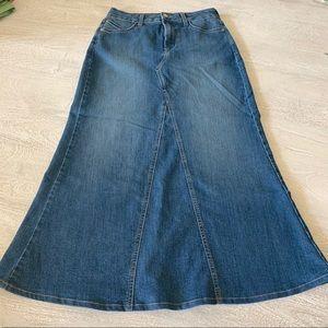 NYDJ Brooke Denim Maxi Skirt - EUC
